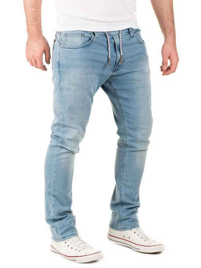 WOTEGA Slim-fit-Jeans »Herren Jogginghose in Jeans-Look Noah« Stretch Hose in Jogg Jeans Sweathosen Denim