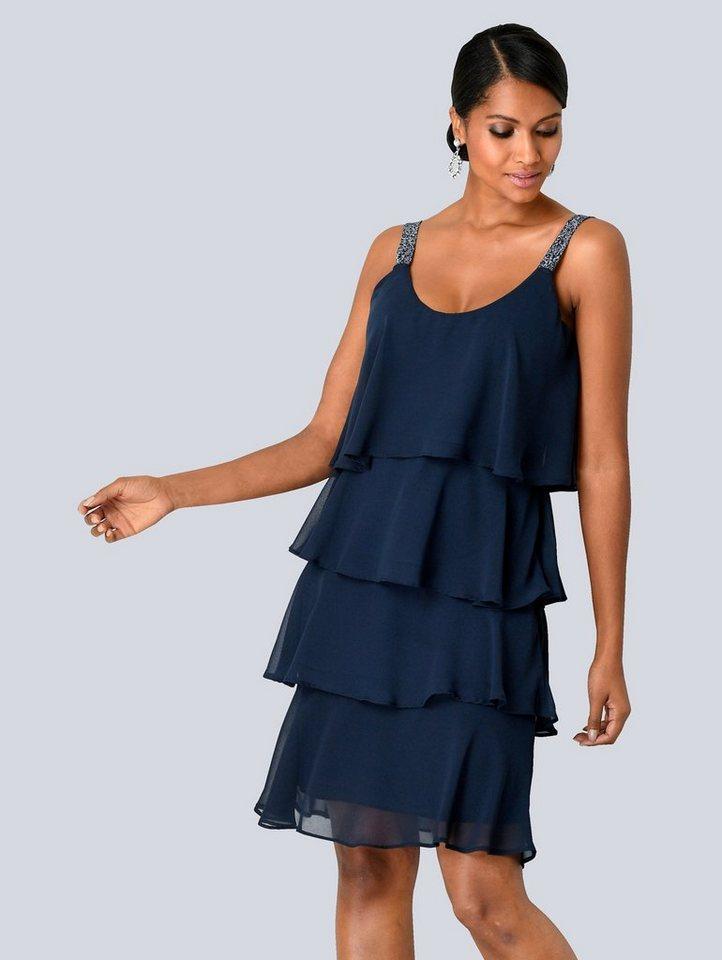 Festtagsmode - Alba Moda Kleid in mehreren Lagen gearbeitet › blau  - Onlineshop OTTO