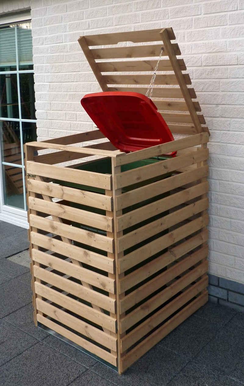 promadino Mülltonnenbox »Vario V«, für 1 x 240 l, holzfarben