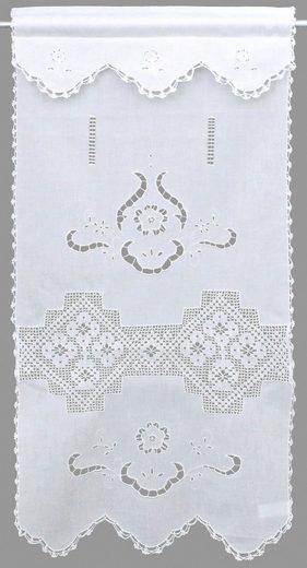 Panneaux »Bondone«, HOSSNER - ART OF HOME DECO, Stangendurchzug (1 Stück), Häkelspitze - ECHTE Handarbeit