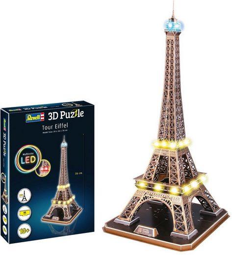 Revell® 3D-Puzzle »Eiffelturm«, 84 Puzzleteile, LED-Edition
