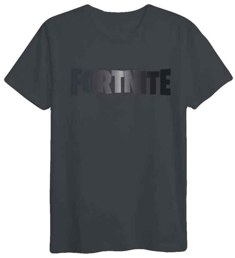 Fortnite T-Shirt »FORTNITE T-SHIRT schwarz / schwarz Logo Epic Games Jugendliche + Erwachsene Gr. S M L XL XXL«