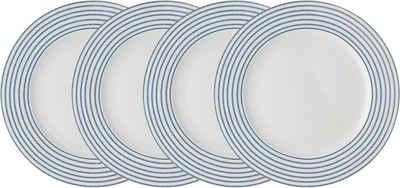LAURA ASHLEY BLUEPRINT COLLECTABLES Speiseteller »Candy Stripe«, (4 Stück), Porzellan, 26 cm