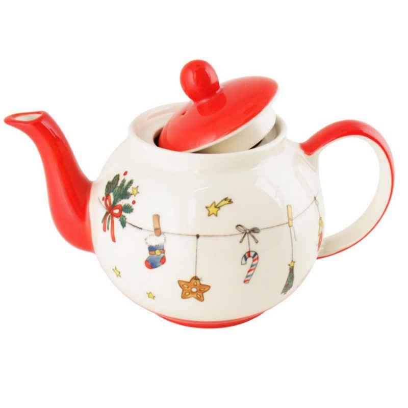 440s Teekanne »440s-Exklusiv Mila Keramik-Teekanne Es Weihnachtet«, 1,2 l, (Set)
