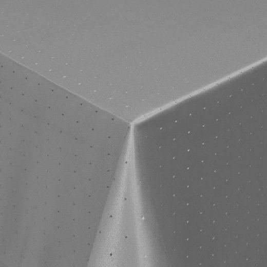Moderno Tischdecke »Tischdecke Stoff Damast Punkte Design Jacquard mit Saum«, Eckig 80x80 cm