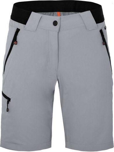Bergson Outdoorhose »VIDAA COMFORT Bermuda« Damen Wandershorts, leicht, strapazierfähig, Normalgrößen, hellgrau