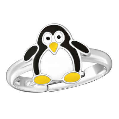 schmuck23 Fingerring »Kinder Ring Pinguin 925 Silber«, Kinderschmuck Mädchen Silberring Geschenk
