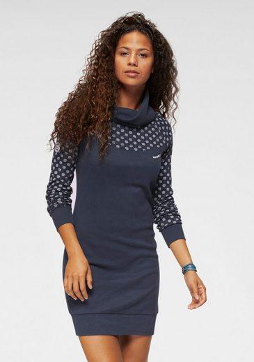 KangaROOS Sweatkleid mit Print im Schulter- und Ärmelbereich
