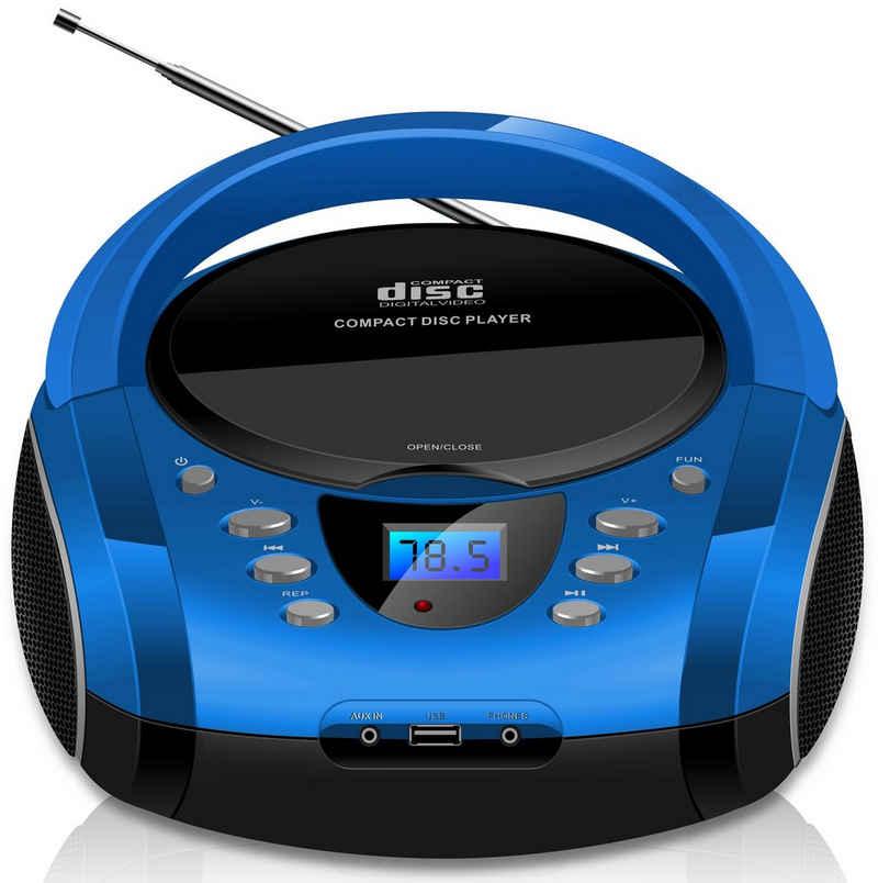 Cyberlux »CL-710« tragbarer CD-Player (Tragbarer CD-Player, FM Radio mit MP3 USB)