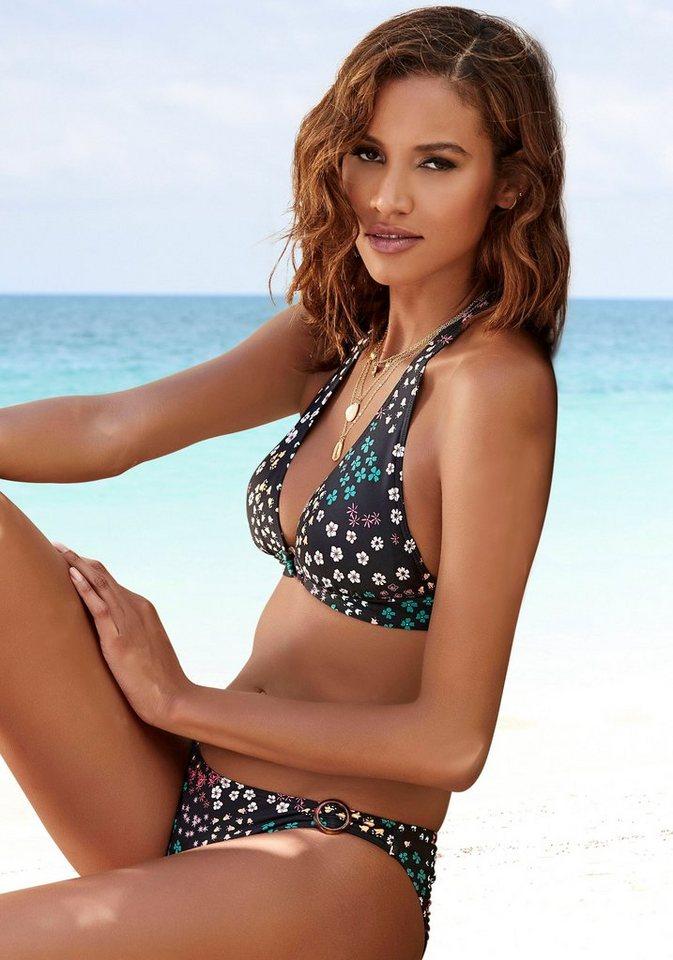 Bademode - s.Oliver Beachwear Triangel Bikini Top »Milly«, mit Zierring in Horn Optik ›  - Onlineshop OTTO