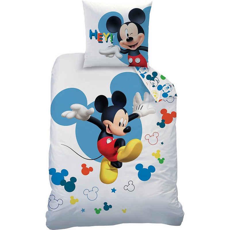Bettwäsche »Wende-Kinderbettwäsche Disney Mickey Jump, 135 x«, CTI