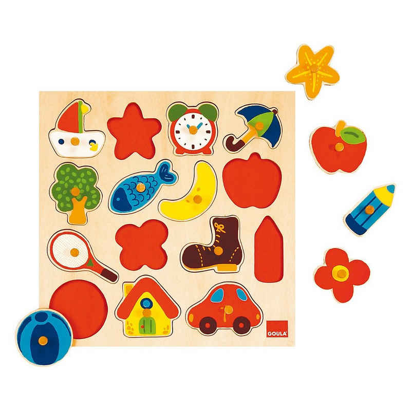 Goula Steckpuzzle »GOULA 53023 Holzpuzzle«, Puzzleteile