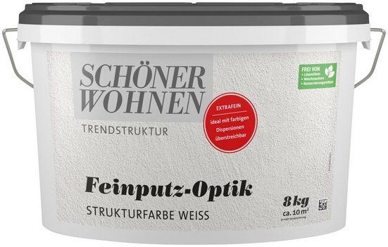 SCHÖNER WOHNEN-Kollektion Wand- und Deckenfarbe »Feinputz-Optik extrafein weiss«, 16