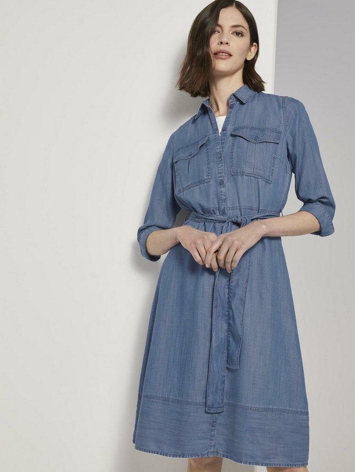tom tailor -  Jeanskleid »Denim Kleid im Shirt-Style«