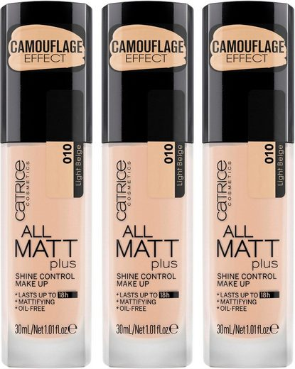 Catrice Make-up »All Matt Plus Shine Control«, 3er-Pack