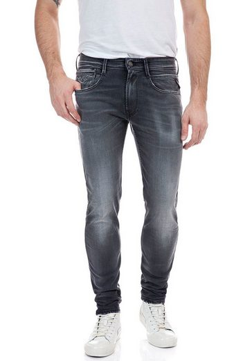 Replay Slim-fit-Jeans »ANBASS« Superstretch im Used-Look