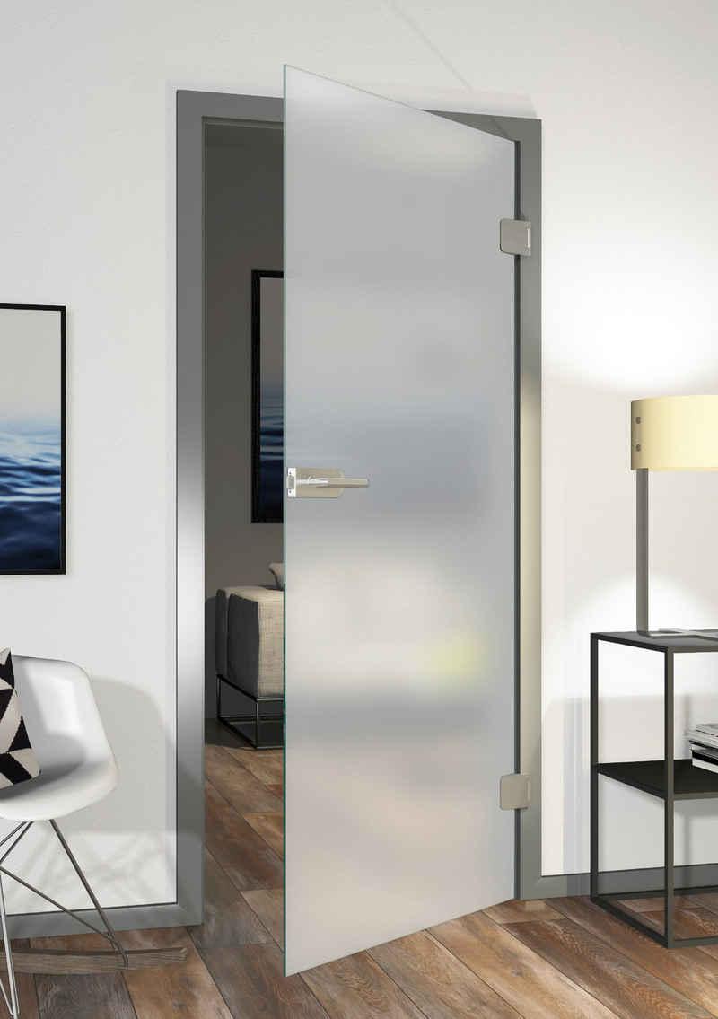 Glastür »Eivind, Satinato 11/01«, 83,4x197,2 cm, DIN rechts