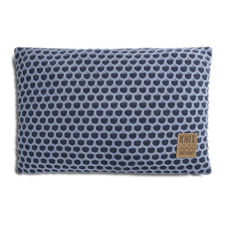 Knit Factory Dekokissen »Knit Factory Mila Kissen Jeans/Indigo - 60x40«