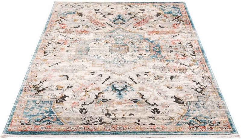 Teppich »Novel 8627«, Carpet City, rechteckig, Höhe 11 mm, mit Fransen, Wohnzimmer