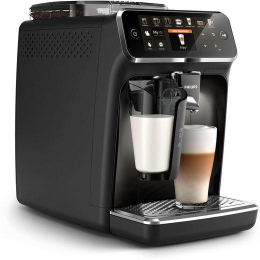 Philips Kaffeevollautomat 5400 Series EP5441/50 LatteGo, mattschwarz