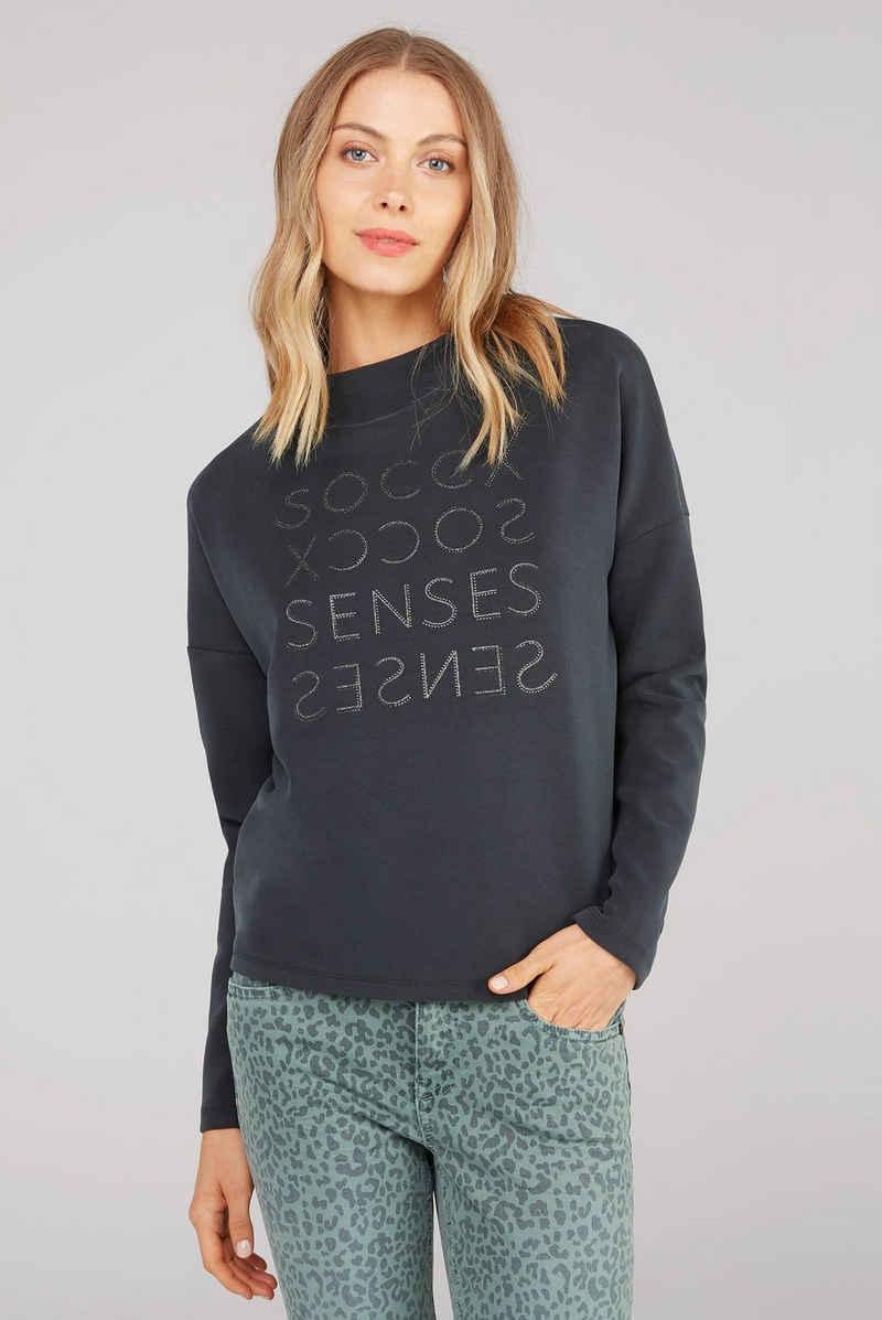 SOCCX Sweater mit überschnittenen Schultern