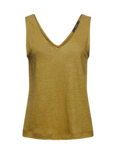 Esprit Collection T-Shirt »Aus 100% Leinen: Tanktop mit V-Ausschnitt« (1-tlg)