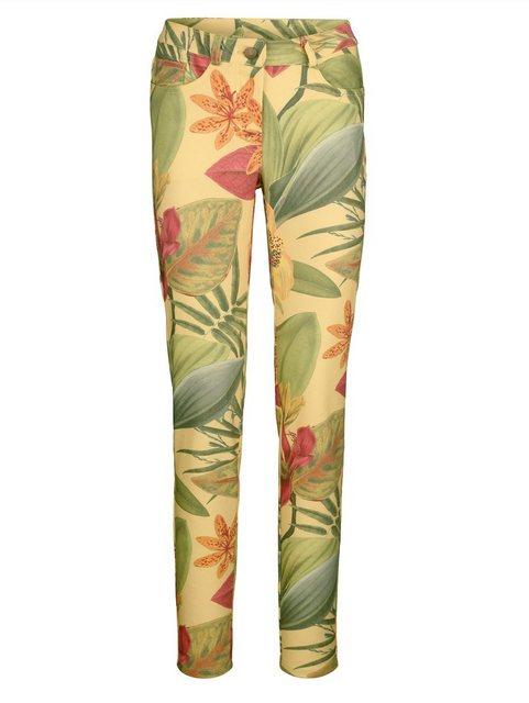 Hosen - Amy Vermont Jeans in floralem Druck › gelb  - Onlineshop OTTO