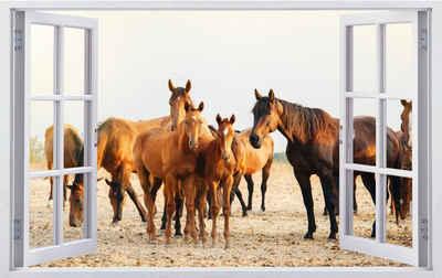 DesFoli Wandtattoo »Pferde Weide Herde F2514«