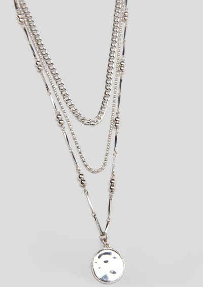 s.Oliver Kette und Anhänger Set »Dreireihige Halskette mit Anhänger«
