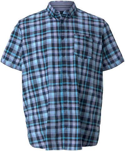 TOM TAILOR Men Plus Kurzarmhemd mit Brusttasche