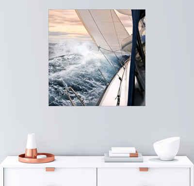 Posterlounge Wandbild, Segeln im Sturm