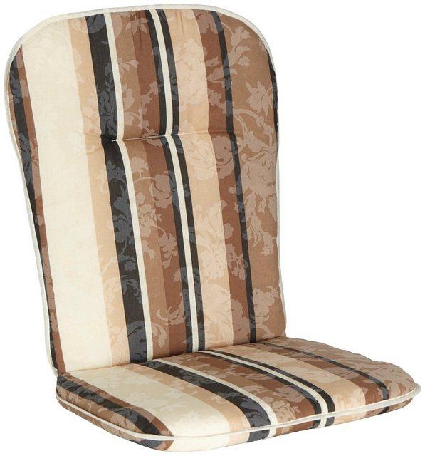 Best Sesselauflage 4 Stück braun