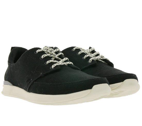 Reef »reef Rover Low Top-Sneaker bequeme Damen Freizeit-Schuhe Alltags-Schuhe mit Schnürsenkeln Schwarz/Weiß« Sneaker