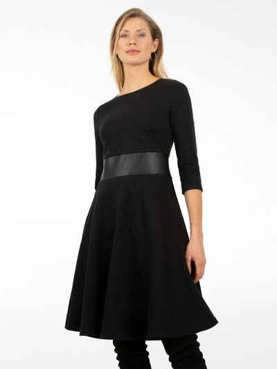 Apart Jerseykleid aus winterlicher Jersey mit Rhomben-Optik