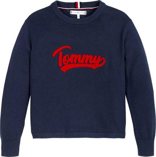 TOMMY HILFIGER Strickpullover »VARSITY LOGO« mit Logo Schriftzug