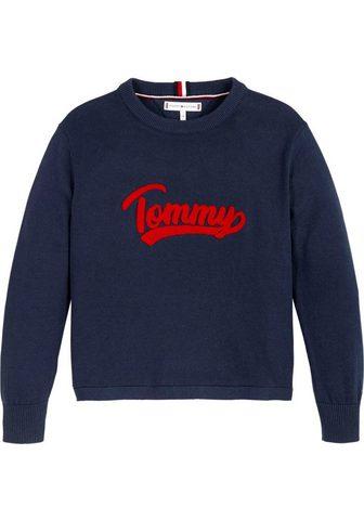 TOMMY HILFIGER Megztinis »VARSITY LOGO« su Logo Schri...