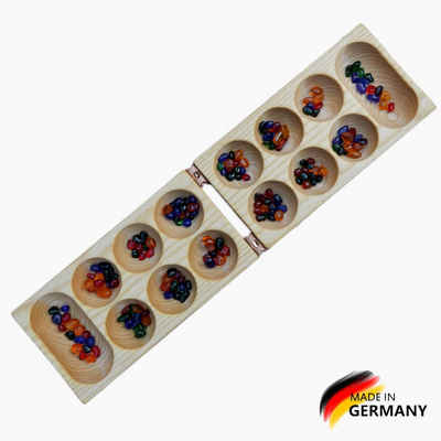 Madera Spielzeuge Spiel, Kalaha »Kalaha klappbar mit 80 Glassteinchen«, Made in Germany