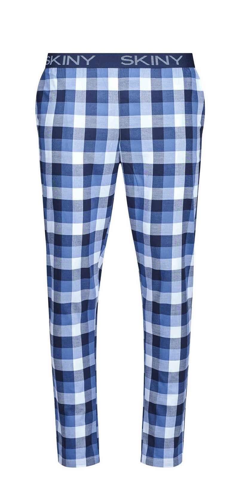 Skiny Pyjamahose »Skiny Herren Pyjama Hose kariert« (1-tlg) Modisches Design Baumwolle