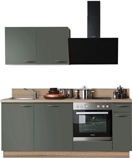 Express Küchen Küchenzeile »Scafa«, mit E-Geräten, vormontiert, mit Vollauszug und Soft-Close-Funktion, Stellbreite 200 cm