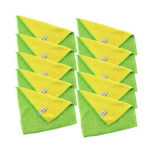Kochblume Geschirrtuch »Microfasertuch 30 x 30 cm«, (Spar-Set, 10-tlg), 800g/m² Qualtität