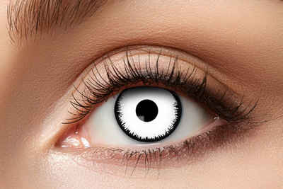 Eyecatcher Farblinsen »Kontaktlinse. angelic white. 12 Monatslinsen. Fantasylinsen für Halloween.«