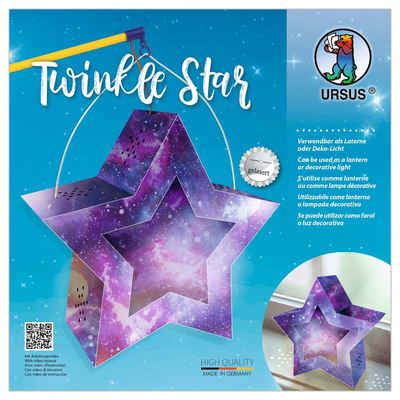 URSUS Papierlaterne »Twinkle Star«, Ø 19 cm, Sternenhimmel