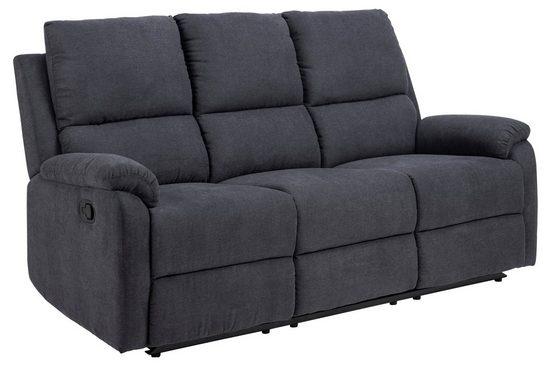 ebuy24 Sofa »Sabel Sofa 3 Sitzer Recliner grau.«