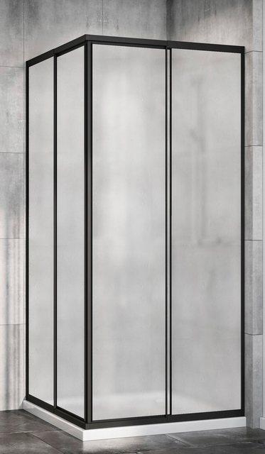 Duschen und Zubehör - Red Shark Eckdusche »Multi Duschkabine Eckeinstieg«, Acrylglas, variabler Verstellbereich 80 90cm, schwarz  - Onlineshop OTTO