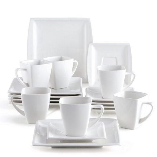 MALACASA Kaffeeservice »BLANCE« (18-tlg), Porzellan