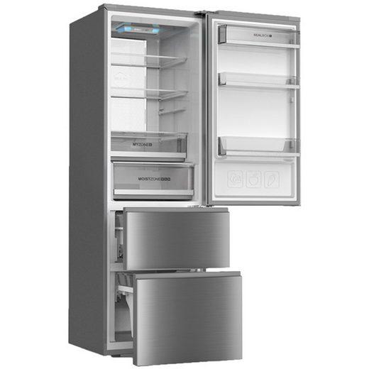 Haier Kühlschrank A3FE735CMJ A++, 190 cm hoch, 60 cm breit, Total No Frost Edelstahl