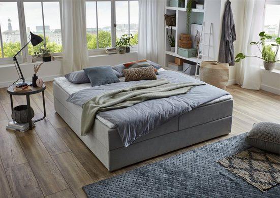 ATLANTIC home collection Boxbett »Lucy«, ohne Kopfteil, frei im Raum stellbar, mit Bettkasten