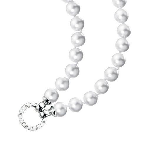 GIORGIO MARTELLO MILANO Perlenkette »Muschelkern Perlen, Ringverschluss, Silber 925«