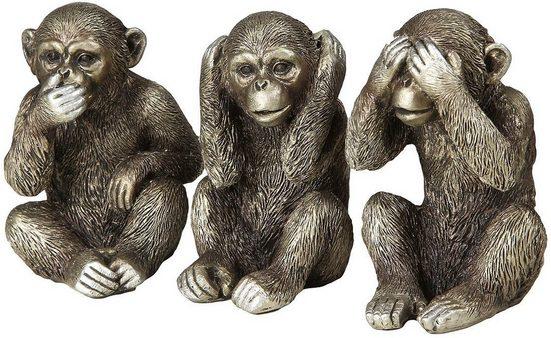 Ambiente Haus Dekofigur »3 Affen Set« (1 Stück)