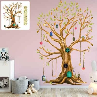 Sunnywall Wandtattoo »XXL Wandtattoo Baumhaus Baum Sunnywall EXKLUSIV Set verschiedene Motive Kinderzimmer Aufkleber bunt Wanddeko«